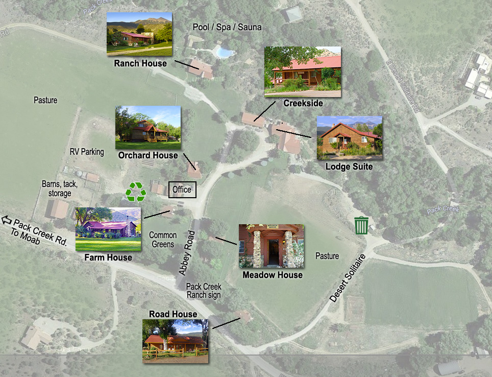 Pack Creek Ranch Cabin Map